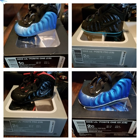 foamposite Shoes | Infant Size 1 And 2